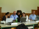 Consultation of the group 3 with the trainers
